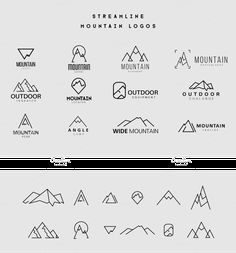 Streamline Mountain Logos by lovepower on Creative Market