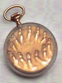 An Art Nouveau 'Zenith Opaline' pocket watch, by René Lalique, Ca.