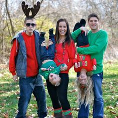 Christmas Family picture ideas...very cute might have to do this with the kids