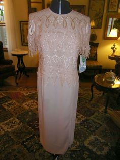GORGEOUS MOTHER OF THE BRIDE OR GROOM FORMAL DRESS IN BLUSH SIZE 10 #Dress