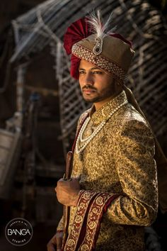 Indian Wedding Dresses For Men | Groom Wear Sherwani Indian Groom Dresses | Indian Wedding Men Dresses | Indian Sherwani | Wedding Sherwani  Curated By Best Indian Candid & Destination Wedding Photography: Magica By Rish Agarwal  [Click on the image to book your wedding photographer]