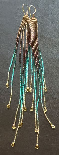 Cascading Golden Glow Medium length with by MauiSwanDesigns
