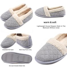 e7290e0f3db4 Chicnchic Women Plush House Slippers Ladies Non Slip Indoor Winter Bedroom  Shoes  fashion  clothing