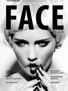 FACE Cover, Hair & Makeup: Jazz Mang, Photographer: Anita Bresser, Model: Anna, blond wig, funny face, long nails, black nails, www.basics-berlin.de