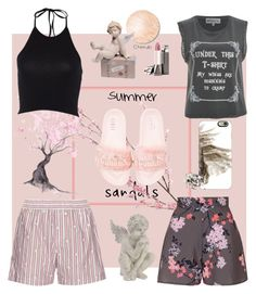 """""""Cherry Blossoms and Cherubs"""" by lmello on Polyvore featuring Pier 1 Imports, Puma, Topshop, N°21, Wildfox, Casetify, Lladró, Shaun Leane and summersandals"""