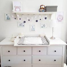 Ikea babyzimmer hemnes  ikea #Kinderzimmer #babyzimmer #babygirl #wandsticker ...