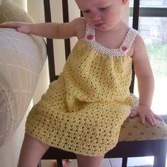 CROCHET PATTERN Pretty Pleated Yoke Dress - Baby to Youth - Pattern PDF. $4.99, via Etsy.