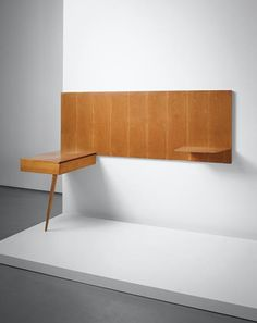 Gio Ponti https://www.phillips.com/detail/GIO-PONTI/UK050115/131  Also take a look at: 13 Space Saving Wall-Mounted Desks http://vurni.com/space-saving-wall-mounted-desks/