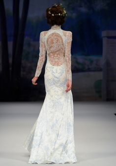 We just did a bouquet for a photo shoot to compliment this amazing dress!  Claire Pettibone Couture Bridal Collection