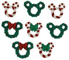 Jesse James Buttons ~  Dress It Up  DISNEY WREATHS & CANES ~ Mouse Ears~ Crafts #JesseJames