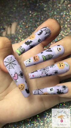 Edgy Nails, Grunge Nails, Chic Nails, Trendy Nails, Swag Nails, Halloween Acrylic Nails, Cute Halloween Nails, Halloween Nail Designs, Best Acrylic Nails