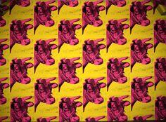 "Andy Warhol Cow Wallpaper 1966. Silkscreen on wallpaper included in The Metropolitan Museum ""Regarding Warhol 60 Artists, 50 Years"" Exhibition.  #AndyWarholPrints"