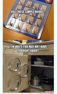 Use these simple hooks in ways you may not have thought about. #kitchen#goodtoknow