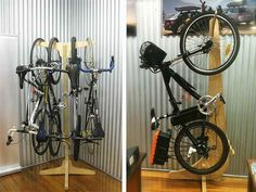 Flexible bike storage for inside bike shed - eg: no problems with anchor points when using light weight construction