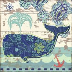 Oceania-Whale by Jennifer Brinley | Ruth Levison Design
