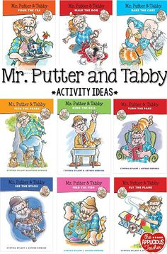 "So many great ideas for using the ""Mr. Putter and Tabby"" series in your classroom! Love how she did a whole study!"