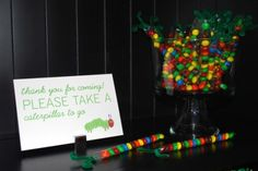 candy tube caterpillar treats {or add paper wings for butterflies}