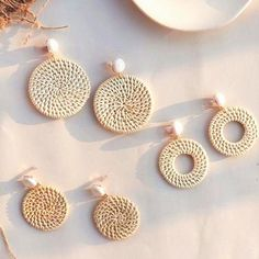 All items featured in our Permanent Collection have a few added perks, like Fast & Free Worldwide Shipping (between Days average - depending on destination), hassle free returns and wholesale availability. Square Earrings, Women's Earrings, Crochet Gift Ideas For Women, Wooden Bag, Imitation Jewelry, Simple Jewelry, Polymer Clay Earrings, Aliexpress, Rattan
