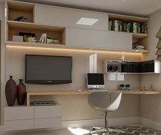 The Best Modern Home Office Design Elements Study Room Design, Home Room Design, Home Office Design, Home Office Decor, House Design, Home Desk, Home Office Space, Small Space Interior Design, House Rooms
