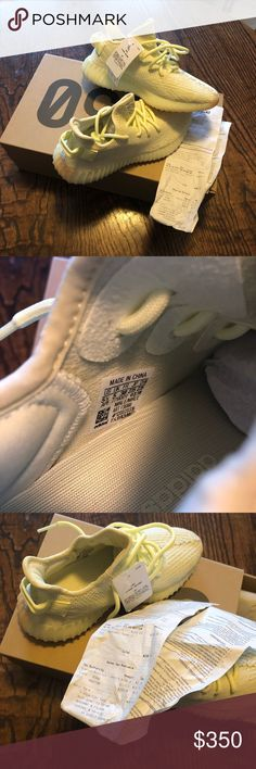 f79d64ddf881d New Adidas Kanye West Yeezy Butters New with the tags and box and receipt.  Color yellow Size men s adidas Shoes Athletic Shoes