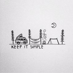 Genau so mag ich es m liebsten… Bulli, Freunde, Natur und einfach relaxen😍 That's exactly how I like it … Bulli, friends, nature and just relax😍 # camping keepitsimple # Camping Drawing, Travel Drawing, Drawing Tips, Drawing Sketches, Drawing Ideas, Gift Drawing, Drawing Art, Illustrator, Simple Doodles
