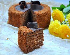 """Торт """"Дамский каприз"""" - медовик с заварным кремом"""