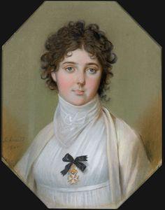 1800 Emma, Lady Hamilton, wearing Maltese Cross by Johann Heinrich Schmidt