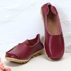US Size 5-13 Women Flat Shoes Casual Comfortable Outdoor Slip On Loafers  #womenfashion #womenshoes #shoes