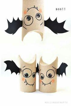 bat craft from toilet paper rolls.
