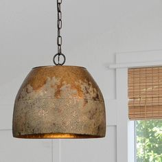 Weathered Metal Hanging Light Hanging Light Fixtures, Metal Hanging Lights, Hanging Lights Kitchen, Hanging Lights, Metal Pendant Light, Rustic Light Fixtures, Farmhouse Ceiling Light, Farmhouse Pendant Lighting, Pendant Light Fixtures