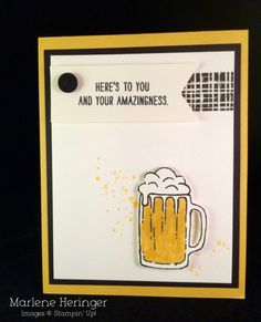 Stampin Up! Mixed Drinks Man Card Beer