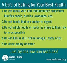 Learn about the Paleo and Anti-Inflammatory Diets in our blog on the topics. We do not endorse either, just providing information! http://www.mollysfund.org/2013/08/nutrition-for-lupus-and-other-autoimmune-diseases/