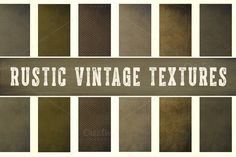 Rustic Vintage Background Textures by Le Paper Cafe on Creative Market