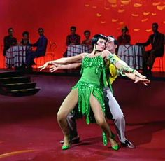 "WOW. ""Broadway Melody Ballet"" dance  with Cyd Charisse & Gene Kelly from the musical ""Singin' in the Rain"" (1952), also 5 stars. Photo by Photofest. via Silver Screen Modiste"