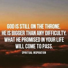March 29...3 gifts of His promises...He is still on the throne!! He is bigger than any difficulty!! His promises for me will come to pass!! #1000gifts