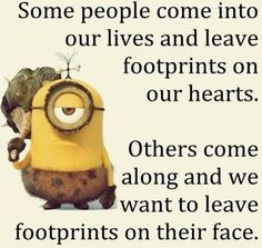 Funny Minions footprints. See my Minions pins https://www.pinterest.com/search/my_pins/?q=minions