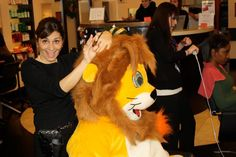 Lion Max getting ready for the summer at Lovella NYC with Cynthia!