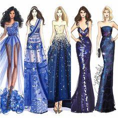 Ladies in blue #fashionsketch #fashionillustration #fashionillustrator #boston…