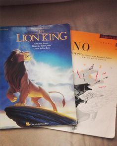 I wandered into the bookstore and couldn't resist  now I just need my keyboard #lionking#sheetmusic#pianoadventures#piano#keyboard#music#books#disney by asevera_twitch