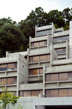 Tadao Ando - Rokko Housing, Kobe 1983. His first project.