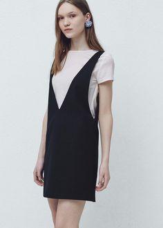 Pinafore dress with t-shirt - Dresses for Women | MANGO USA