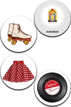 Special Offer A Pack of 4 ROCK n ROLL Pattern Weights Like the TV Sewing Bee #ricemetalscreationscouk