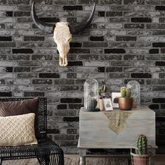 HaokHome Modern Faux Brick Wallpaper Black/White 3D Textured Stone Paper Rolls Living room Bedroom Home Wall Decoration-in Wallpapers from Home Improvement on Aliexpress.com | Alibaba Group