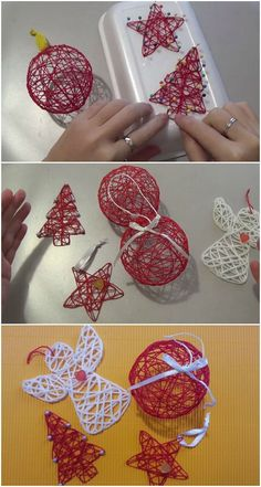 How to Make Unique Christmas Tree Decorations - Awesome DIY Project -. - How to make unique Christmas tree decorations – Awesome DIY Project – Diy Projekt How to make u - Unique Christmas Trees, Christmas Ornament Crafts, Christmas Crafts For Kids, Diy Christmas Gifts, Christmas Projects, Simple Christmas, Holiday Crafts, Diy Ornaments, Crochet Christmas