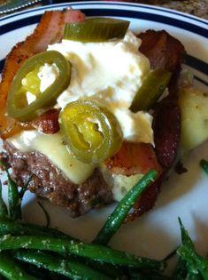 Keto Jalapeño Bacon Burgers. . who said eating healthy shouldn't have amazing taste? :o)