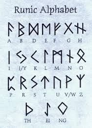 Viking Symbols of the germanic peoples norse speaking scandinavian the vikings Alphabet Code, Alphabet Symbols, Norse Alphabet, Fun Fonts Alphabet, Witches Alphabet, Tattoo Alphabet, Viking Symbols, Viking Runes, Ancient Symbols