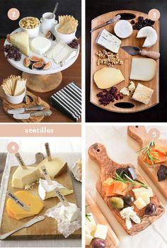 Una tabla de quesos es algo tan sencillo a la par de vistoso que con este post lleno de inspiración no vas a poder resistirte a hacerla.