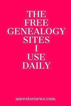 Free genealogy is alive and well The 13 free sites I've used for years to do my genealogy research. Free genealogy is alive and well The 13 free sites I've used for years to do my genealogy research. Free Genealogy Sites, Genealogy Forms, Genealogy Search, Genealogy Chart, Family Genealogy, Free Genealogy Records, Ancestry Websites, Free Ancestry Sites, Free Ancestry Search