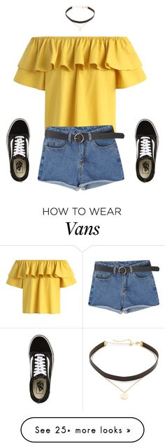"""Hanging out with Eric #5"" by luka1207 on Polyvore featuring Chicwish, Jennifer Zeuner and Vans"