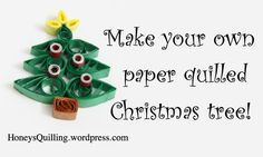 Paper Quilled Christmas Tree Free Tutorial #Quilling #Crafts